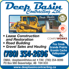 Yellow Pages Ad of Deep Basin Contracting Ltd