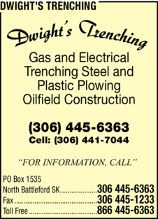 Yellow Pages Ad of Dwight's Trenching