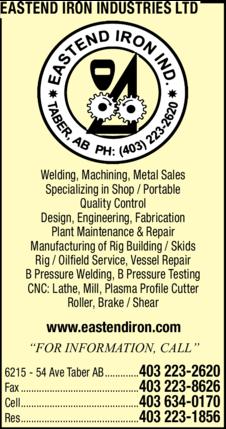 Print Ad of Eastend Iron Industries Ltd
