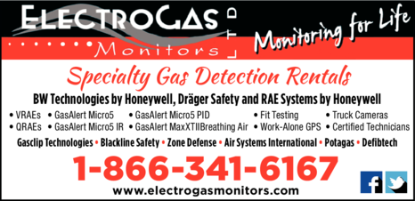 Yellow Pages Ad of Electrogas Monitors Ltd