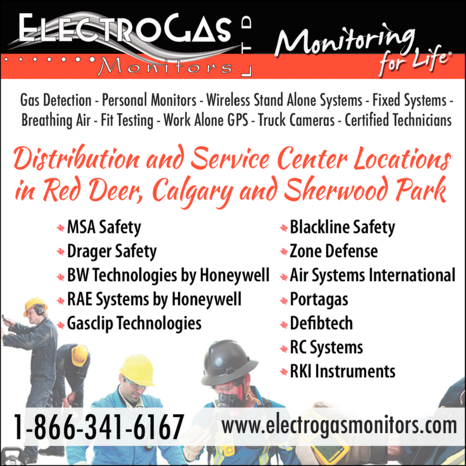 Print Ad of Electrogas Monitors Ltd