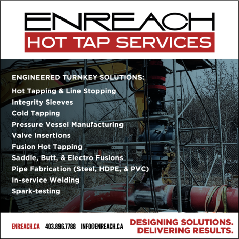 Yellow Pages Ad of Enreach Hot Tap Services