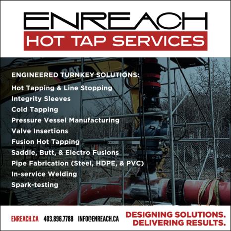 Print Ad of Enreach Hot Tap Services
