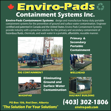 Yellow Pages Ad of Enviro-Pads Containment Systems Inc