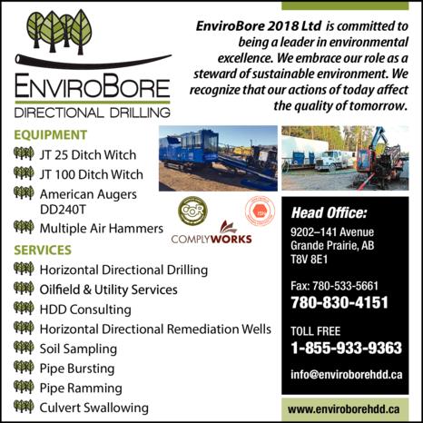 Print Ad of Envirobore Directional Drilling