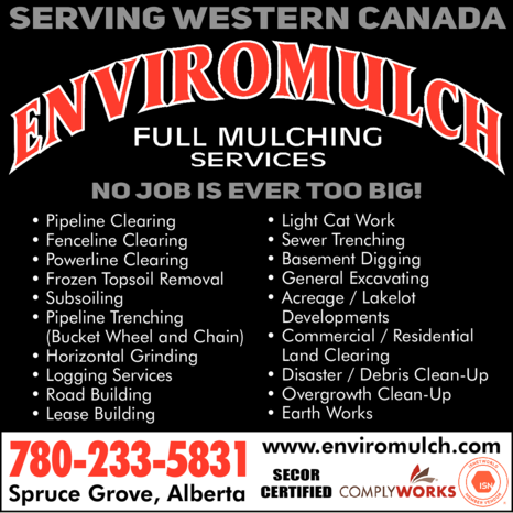Yellow Pages Ad of Enviromulch Full Mulching Services Ltd