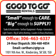 Yellow Pages Ad of Good To Go Rentals