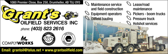 Yellow Pages Ad of Grant's Oilfield Services Inc