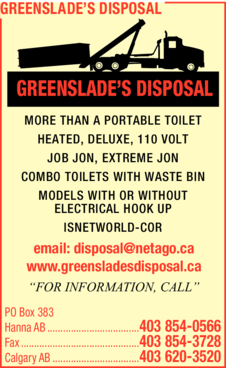 Yellow Pages Ad of Greenslade's Disposal