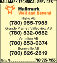 Yellow Pages Ad of Hallmark Technical Services