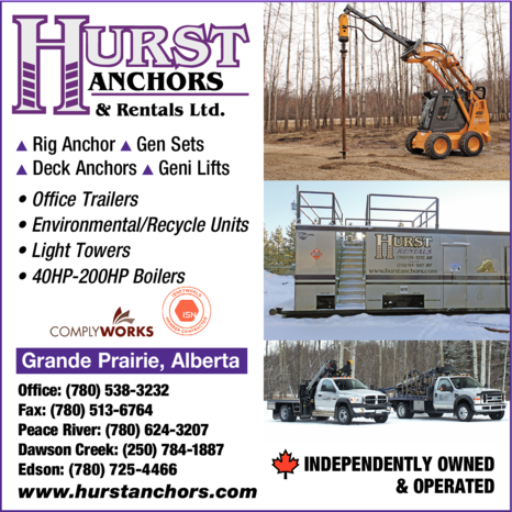 Yellow Pages Ad of Hurst Anchors & Rentals Ltd