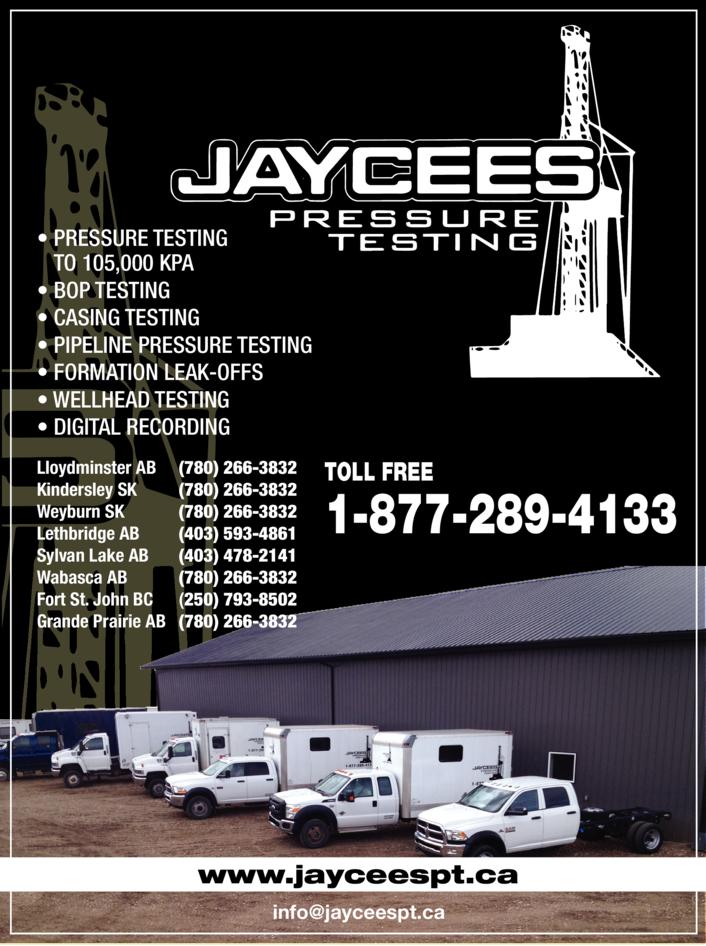 Print Ad of Jaycees Pressure Testing Ltd