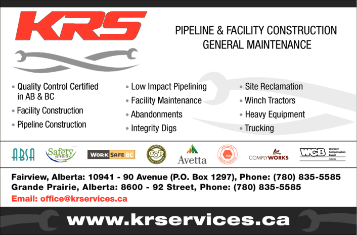Print Ad of K & R Services