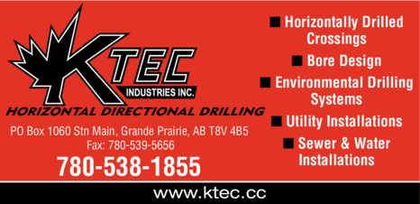 Yellow Pages Ad of K Tec Industries Inc