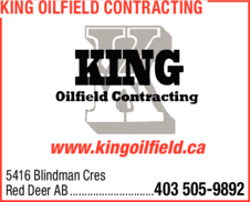 Yellow Pages Ad of King Oilfield Contracting