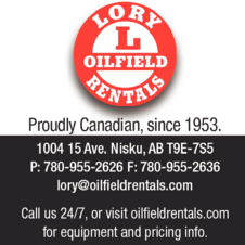 Yellow Pages Ad of Lory Oilfield Rentals Inc