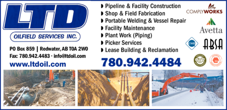 Yellow Pages Ad of Ltd Oilfield Services Inc