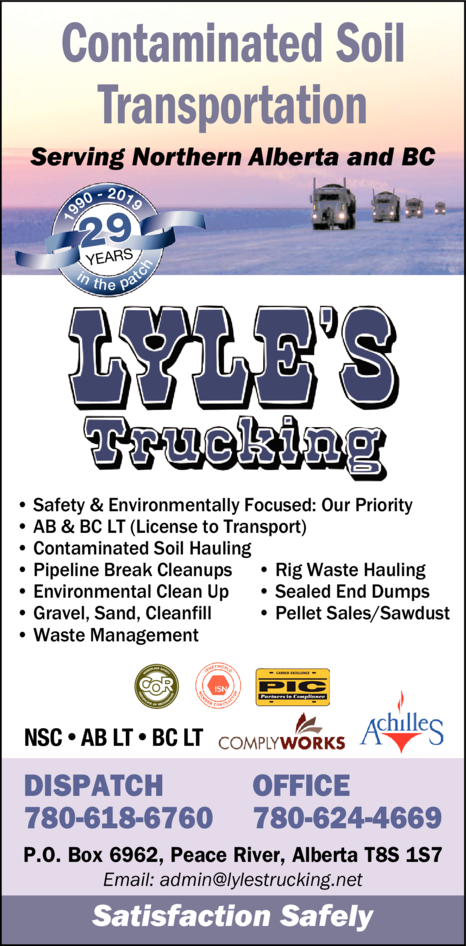 Yellow Pages Ad of Lyle's Trucking Ltd