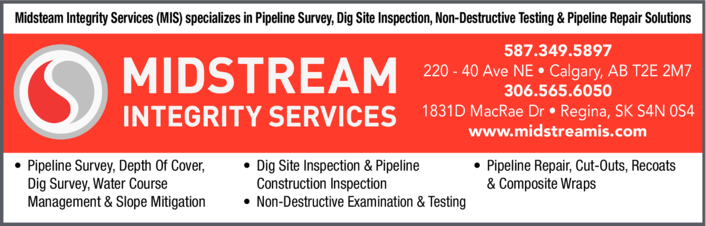 Yellow Pages Ad of Midstream Integrity Services