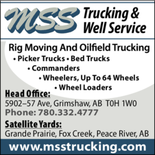 Print Ad of Mss Trucking & Well Service