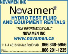Yellow Pages Ad of Novamen Inc