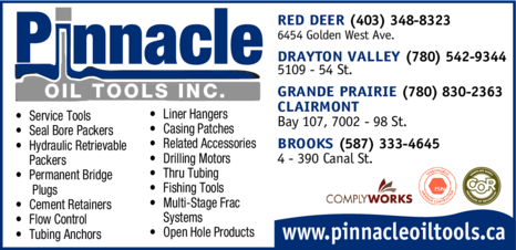 Yellow Pages Ad of Pinnacle Oil Tools Inc