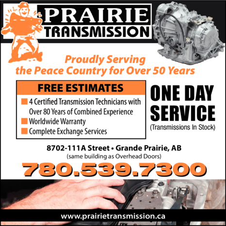 Yellow Pages Ad of Prairie Transmission