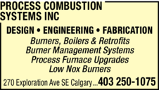 Yellow Pages Ad of Process Combustion Systems Inc