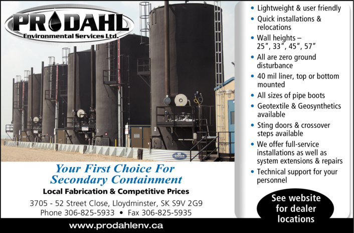 Yellow Pages Ad of Prodahl Environmental Services Ltd