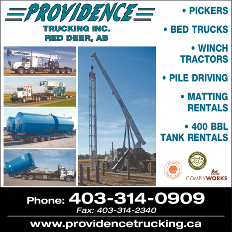 Yellow Pages Ad of Providence Trucking Inc