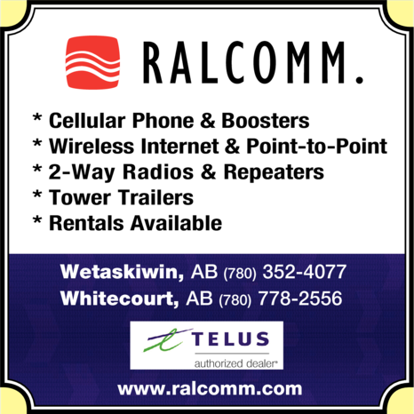 Yellow Pages Ad of Ralcomm Ltd