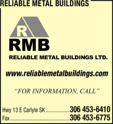 Yellow Pages Ad of Reliable Metal Buildings