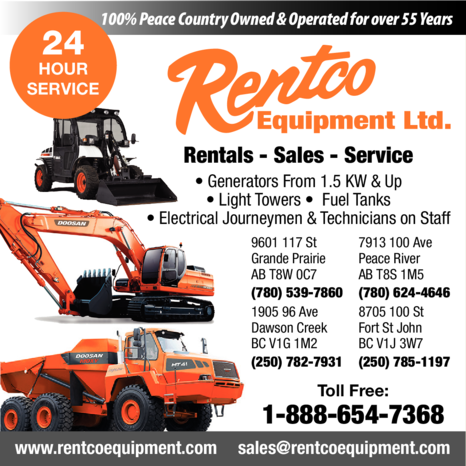 Yellow Pages Ad of Rentco Equipment Ltd