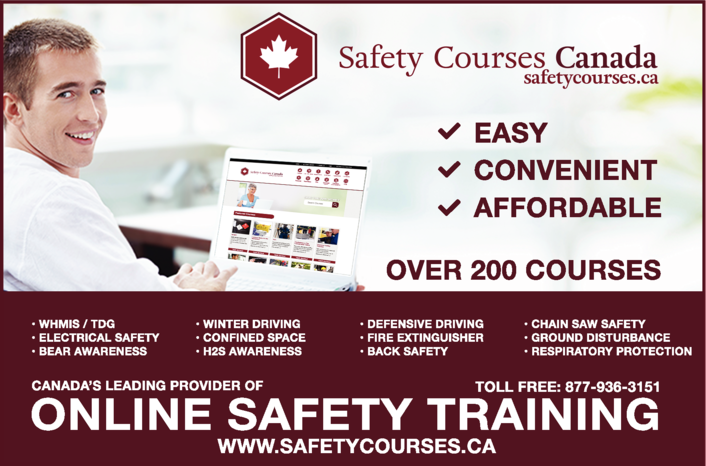 Yellow Pages Ad of Safety Courses Canada