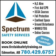 Yellow Pages Ad of Spectrum Safety Services
