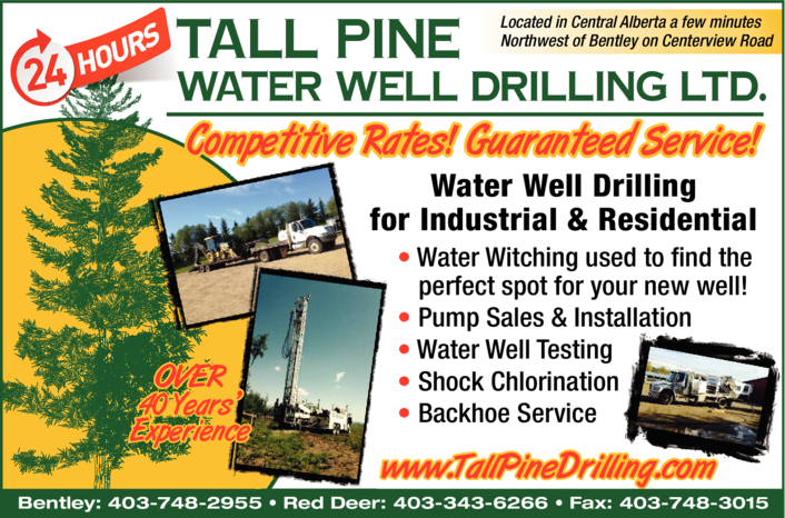 Yellow Pages Ad of Tall Pine Drilling Ltd