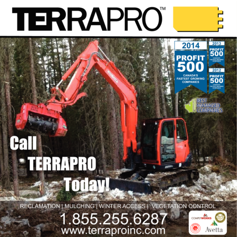 Yellow Pages Ad of Terrapro Inc