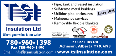Yellow Pages Ad of Tsi Insulation Ltd