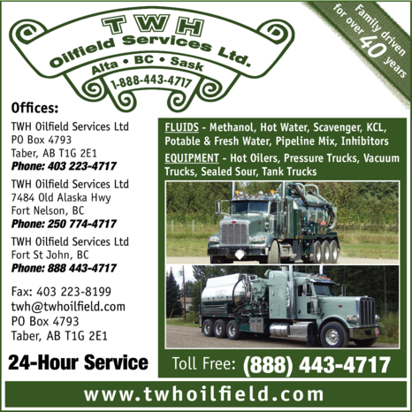 Print Ad of Twh Oilfield Services Ltd