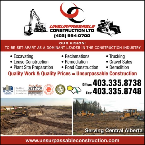Print Ad of Unsurpassable Construction Ltd
