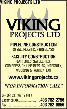 Yellow Pages Ad of Viking Projects Ltd