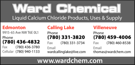 Yellow Pages Ad of Ward Chemical