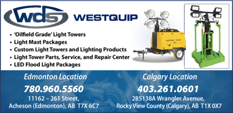 Yellow Pages Ad of Westquip Diesel Sales Ltd