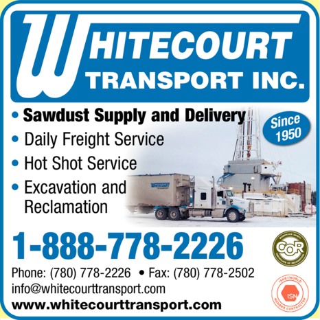Yellow Pages Ad of Whitecourt Transport Inc